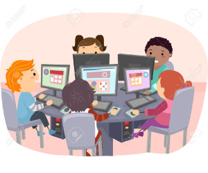 47650185-Stickman-Illustration-of-Kids-Using-Computers-Stock-Illustration-kids-cartoon-children